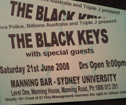 5. Tickets to The Black Keys