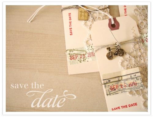 3. Beautiful DIY Save the Dates