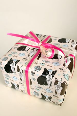 1. Boston Terrier Wrapping Paper